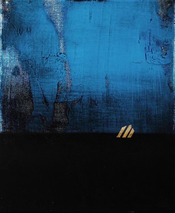 亞奇里居 XII 27x22cm mixed media on canvas 2018