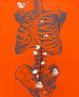 靈魂容器-右型 65x53cm oil on canvas
