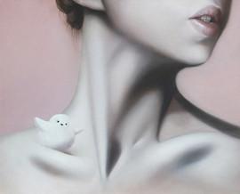 棲 53x65cm oil on canvas