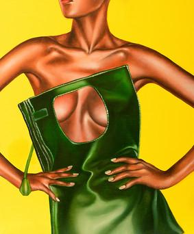 Lady C 45.5x38cm oil on canvas 2020