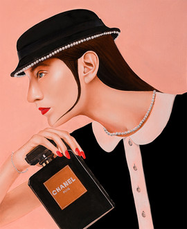 Lady F 45.5x38cm oil on canvas