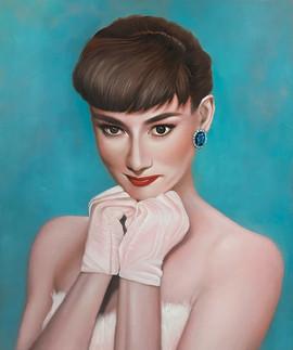 Sweety Hepburn 45.5x38.5cm oil on canvas