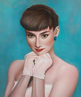 Sweety Hepburn 45.5x38.5cm oil on canvas 2020