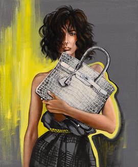 Lady B 45.5x38cm oil on canvas