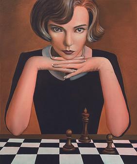 Lady Harmon 45.5x38cm oil on canvas 2021