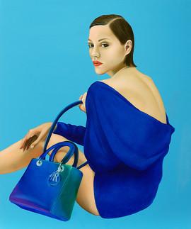 Lady D 45.5x38cm oil on canvas