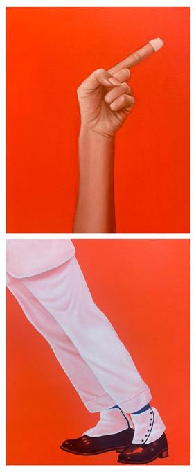 Sombody-MJ 22x27cm(one pic) 兩件為一組 oil on canvas 2021