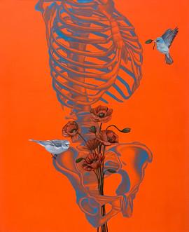 靈魂容器-左型 65x53cm oil on canvas