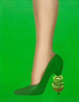Sweet Kiwi 35x27cm oil on canvas