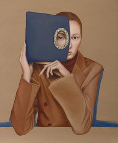Lady E 45.5x38cm oil on canvas