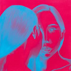 Ego-holic IV 25x25cm oil on canvas