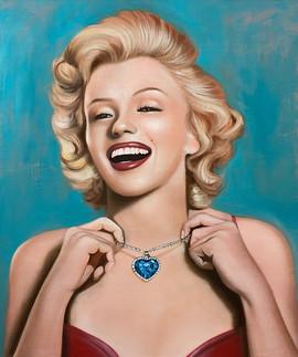 Sexy Monroe 45.5x38.5cm oil on canvas