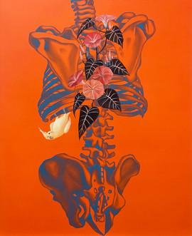 靈魂容器-背望 65x53cm oil on canvas