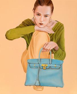 Lady G 45.5x38cm oil on canvas