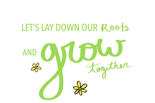 """Grow"" Lyrics Sticker"