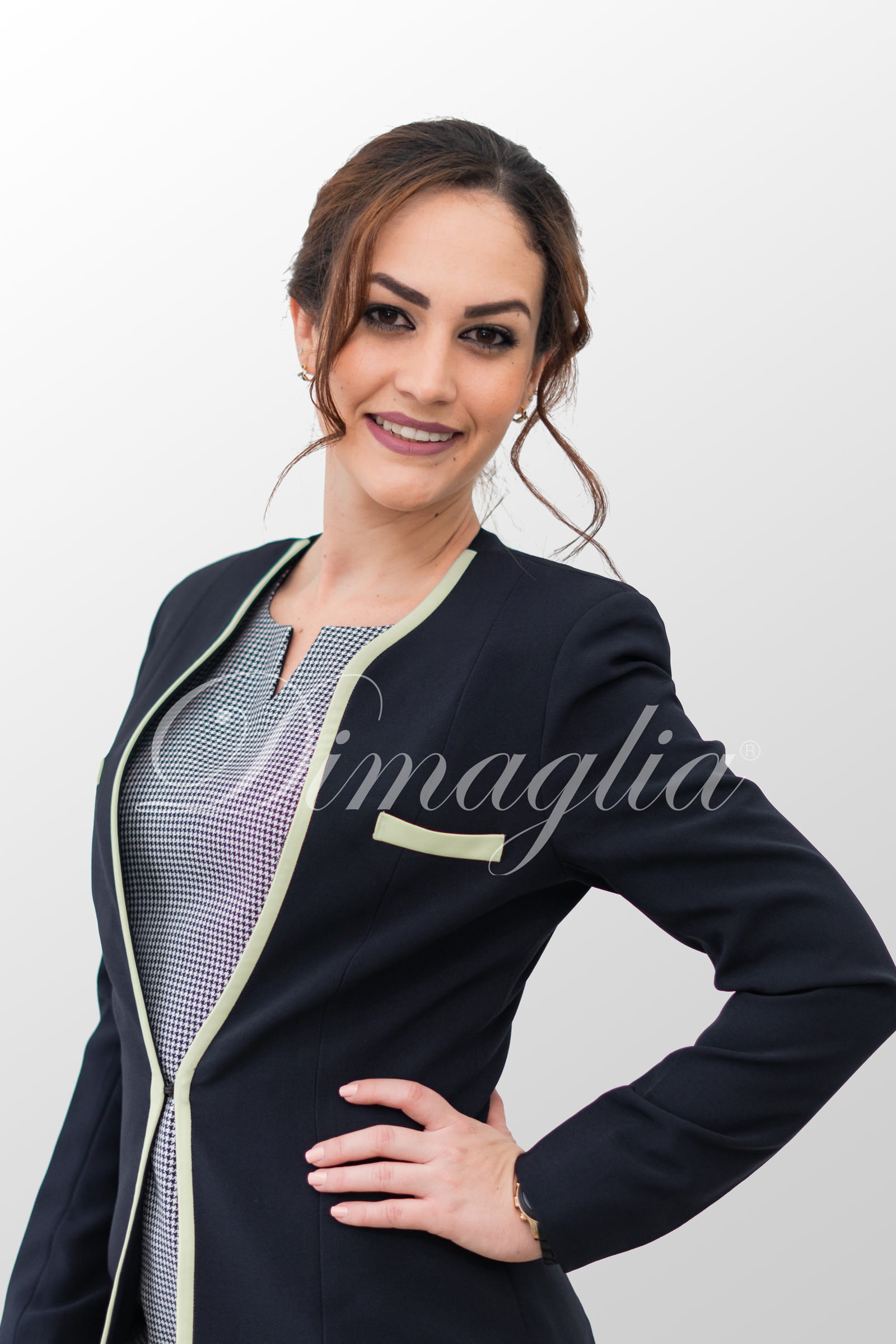 Chaqueta azul stretch