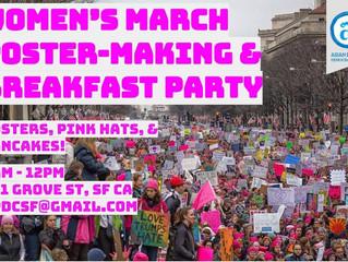 Jan 20th - Women's March Poster-Making & Breakfast