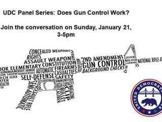 Jan 21st - United Dems Panel: Does Gun Control Work?