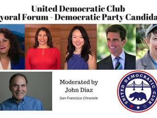Feb 3rd United Democratic Club's Mayoral Forum