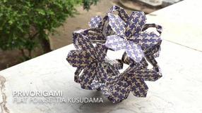 Flat Poinsettia Kusudama