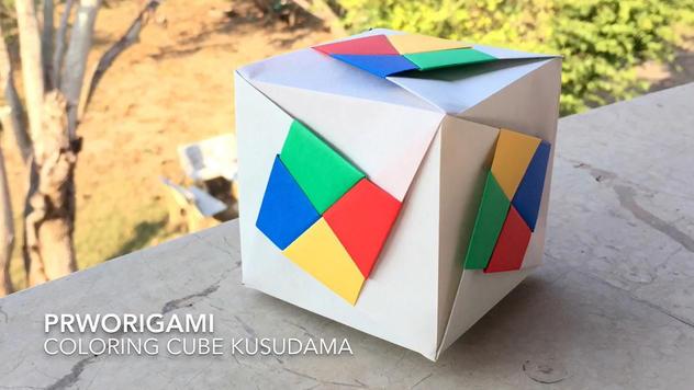 Coloring Cube Kusudama