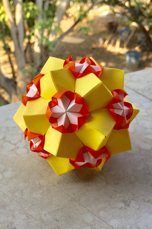 Candy Corn Kusudama