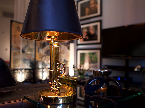 Gun Lamp, design concept by Thomas Halstead Designs