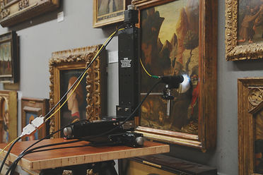 Imaging and Sensing for Archaeology, Art History and Conservation (ISAAC) performing Optical Coherence Tomography (OCT) at the National Gallery investigating painting varnish conservation
