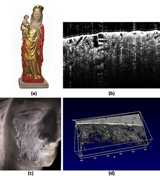 Imaging and Sensing for Archaeology, Art History and Conservation (ISAAC)'s investigation of the Flawford Virgin using Optical Coherence Tomography (OCT)