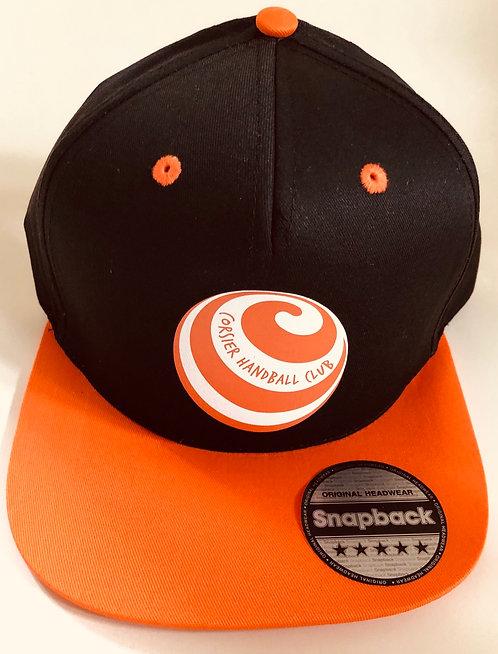 casquette Noire Logo Orange