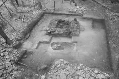 Excavaciones del santuario central, Estructura 141-4 (vista al oeste)