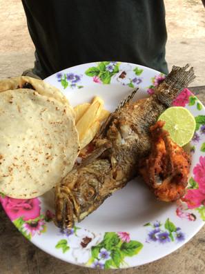 Una de las deliciosas comidas que tenemos.
