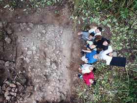Drone photography of Level 2, Excavations of Structure 168-1