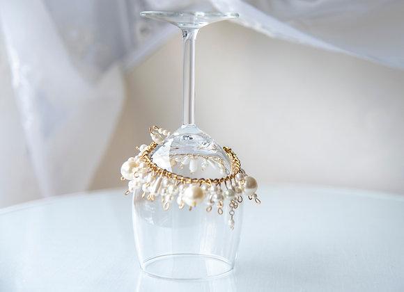 Faux Pearl Charm Bracelet