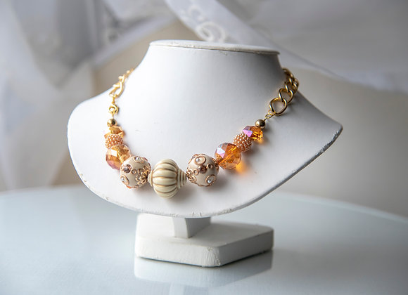 Chunky Orange Creamsicle Necklace
