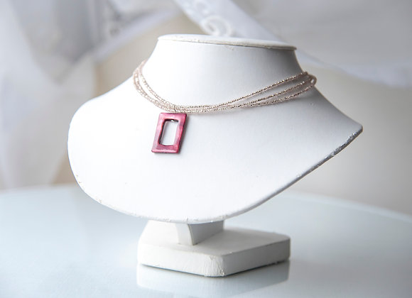 Beaded Square Necklace