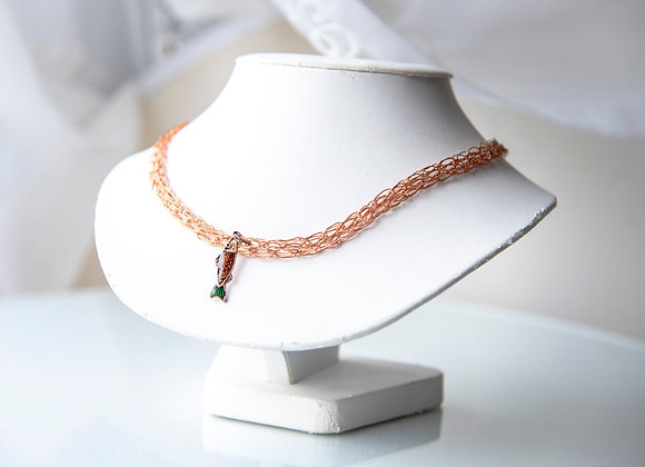 Corked Wire Necklace - Copper Fish