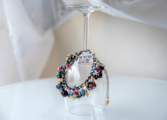 Black and Colour Charm Bracelet