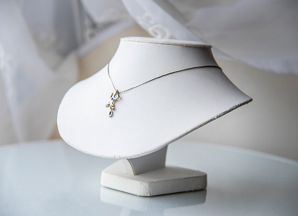 Sterling Silver Lizard Necklace