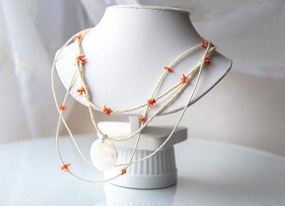 Creamy Coral Necklace