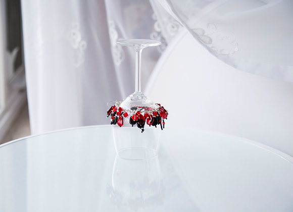 Red and Black Dice Charm Bracelet