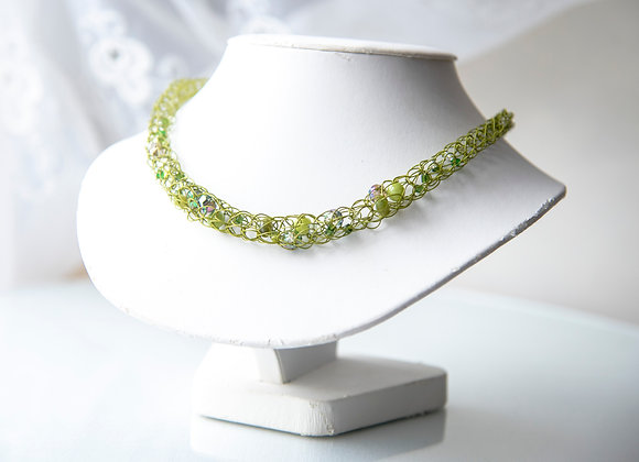 Corked Wire Necklace - Green