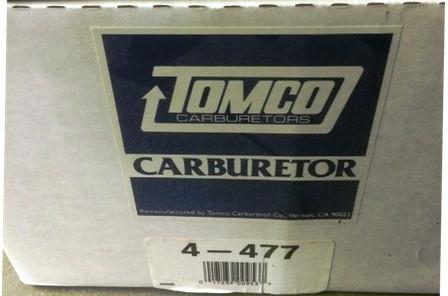 TOMCO 4-477 CARBURETOR