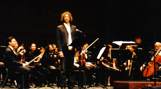 Ron Levy after a performance of one of his musical composition.