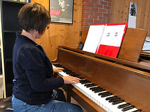 Student Practicing the Piano