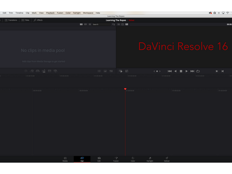 Picking a Video Editor: DaVinci Resolve 16