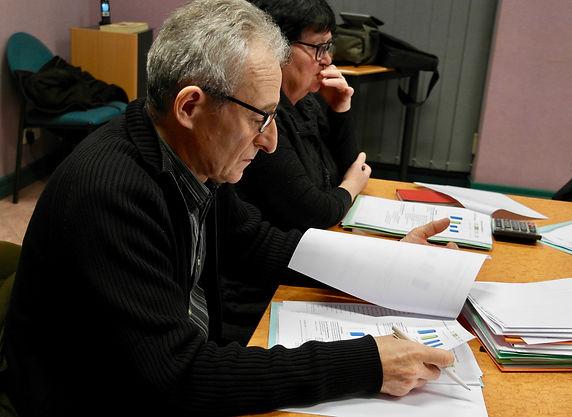 Marcel Charlet au conseil municipal de Saint Péran