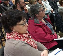 Nathalie Le Luel en réunion des CCAS