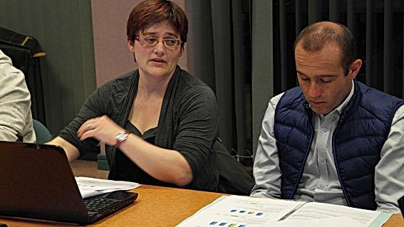 Isabelle Goven en conseil municipal à Saint Péran