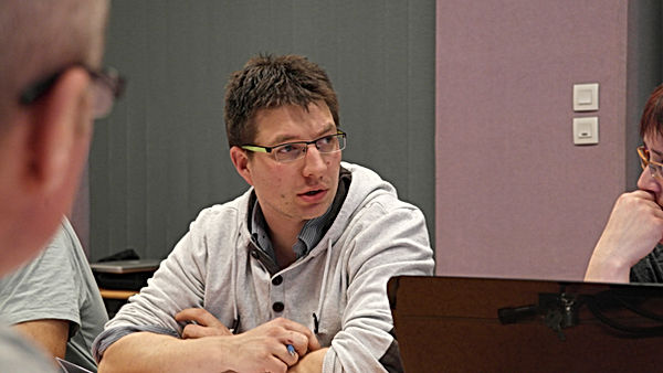 Julien Davin, en conseil à Saint Péran